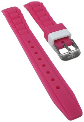 s.Oliver Uhrenarmband | Silikon weich pink 14mm für SO-2591-PQ – Bild 1