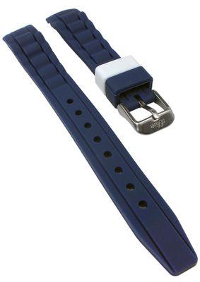 s.Oliver Uhrenarmband | Silikon weich blau 14mm für SO-2589-PQ – Bild 1