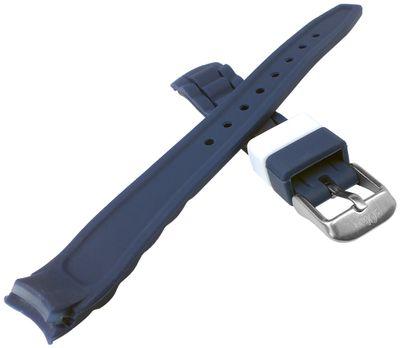 s.Oliver Uhrenarmband | Silikon weich blau 14mm für SO-2589-PQ – Bild 2