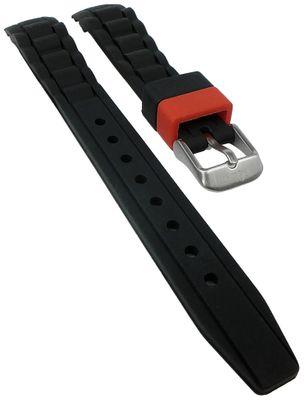 s.Oliver Uhrenarmband | Silikon weich schwarz 14mm für SO-2588-PQ – Bild 1