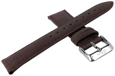 s.Oliver SO-3102-LQ Ersatzband | Uhrenarmband Leder braun 20mm  – Bild 2