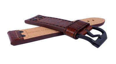 Police Adder Ersatzband | Uhrenarmband Leder braun 24mm für P14536JSB/12A – Bild 2