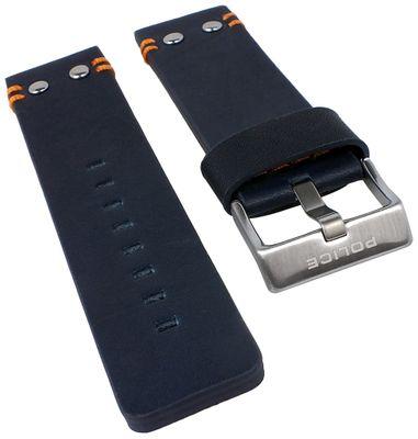 Police Copperhead Ersatzband 24mm | Uhrenarmband Leder blau P14374JS/03 – Bild 1