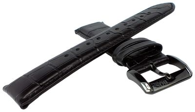 Hugo Boss 1512920 | Uhrenarmband aus Leder Kroko-Optik schwarz 22mm – Bild 2