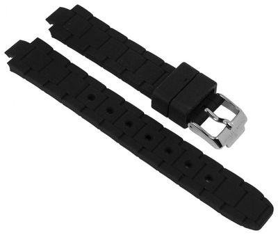 Jacques Lemans Uhrenarmband | Silikon schwarz für Modell Milano 1-1709