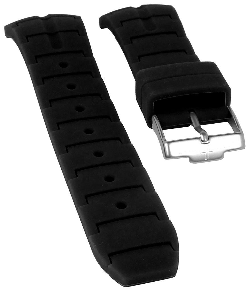 jacques lemans uhrenarmband silikon schwarz f r. Black Bedroom Furniture Sets. Home Design Ideas