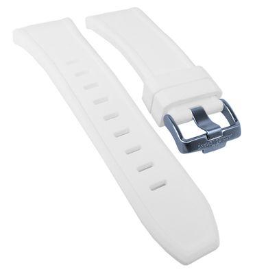 Jacques Lemans Miami ♦ Uhrenarmband Silikon weiß ♦ 1-1784 ♦ 1-1784R