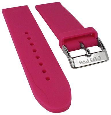 Calypso Ersatzband 18mm | Silikon pink glatt weich für Modell K5733/4 – Bild 1