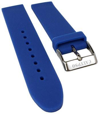 Calypso Ersatzband 18mm | Silikon blau glatt weich für Modell K5733/5 – Bild 1