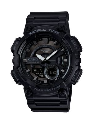 Casio Collection Uhr | Analog/Digital Datenbank schwarz AEQ-110W-1BVEF