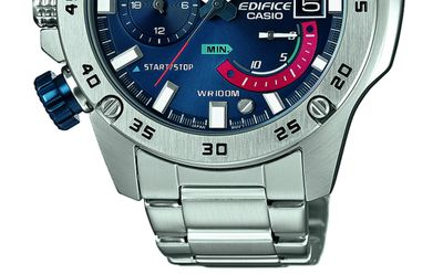 Casio Edifice Herrenhr | Analog Chronograph Edelstahl EFR-558D-2AVUEF – Bild 4