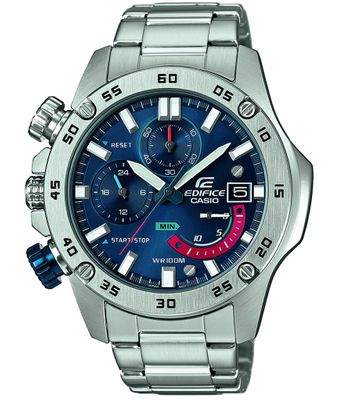 Casio Edifice Herrenhr | Analog Chronograph Edelstahl EFR-558D-2AVUEF