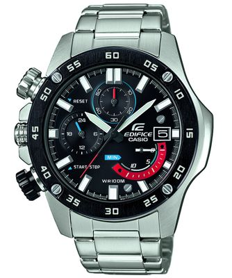 Casio Edifice Herrenhr | Analog Chronograph Edelstahl EFR-558DB-1AVUEF – Bild 1
