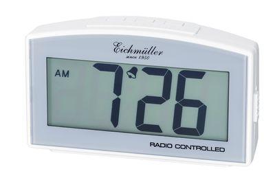Funkwecker Wecker Alarm Digital mit Schlummer Funktion weiß
