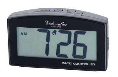 Funkwecker Wecker Alarm Digital mit Schlummer Funktion grau
