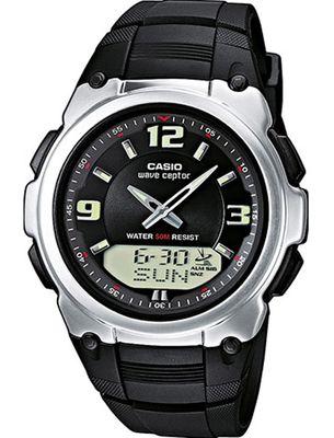 Casio Funkuhr Herren anadigi Resin schwarz Wave Ceptor WVA-109HE-1BVER