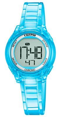 Calypso Kinderuhr digital Quarz Alarm Stoppuhr Licht türkis K5737/2