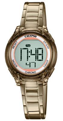 Calypso Kinderuhr digital Quarz Alarm Stoppuhr und Licht braun K5737/6