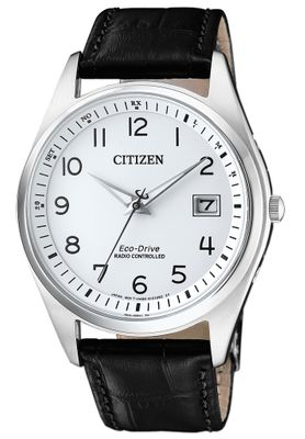 Citizen Eco-Drive | Herrenuhr Funk/Solar, Lederuhrenband AS2050-10A