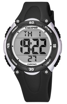 Calypso Kinderuhr digital 2.Zeitzone Alarm Stoppuhr schwarz K5741/4
