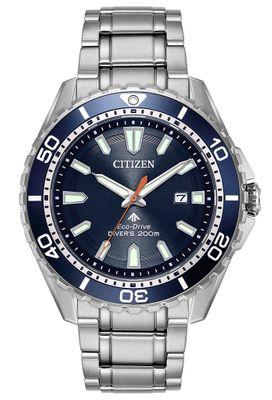 Citizen Promaster | Eco Drive Taucheruhr Edelstahl, blau BN0191-80L