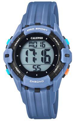 Calypso Kinderuhr digital Quarz Stoppuhr Alarm 2.Zeitzone blau K5740/1