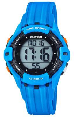 Calypso Kinderuhr digital Stoppuhr Alarm 2.Zeitzone hellblau K5740/2