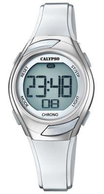 Calypso Kinderuhr digital Quarz Stoppuhr Alarm Licht silbern K5738/1