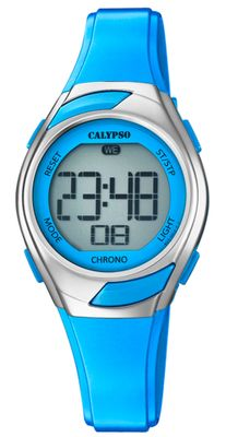 Calypso Kinderuhr digital Quarz Stoppuhr Alarm Licht blau K5738/3