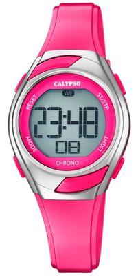 Calypso Kinderuhr digital Quarz Stoppuhr Alarm Licht pink K5738/4