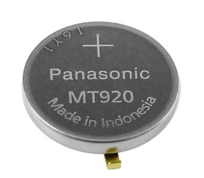 Citizen Akku | Panasonic Batterie LiIon Knopfzelle mit Fähnchen MT920