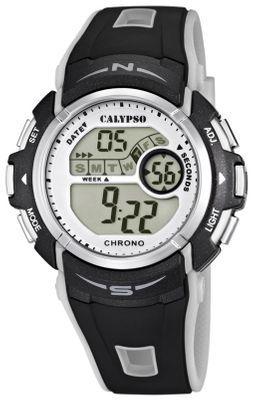 Calypso | Herrenuhr digital Alarm Timer Stoppuhr schwarz/grau K5610/8