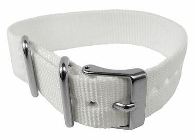 Timex Weekender Durchzugsband 16mm | Textil weiß für T2N837 – Bild 2