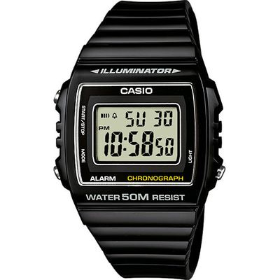 Digitaluhr | Casio Collection Illuminator Retro Style schwarz W-215H-1AVEF