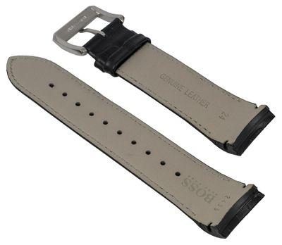 Hugo Boss 1512922 | Ersatzband 24mm | Leder schwarz HB.197.1.34.255 – Bild 2