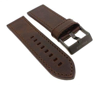 Police D-JAY | Uhrenarmband 26mm aus Leder braun für P14835JSU/12