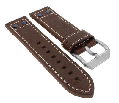 Police Adder | Uhrenarmband 24mm aus Leder braun für P14536JS/04