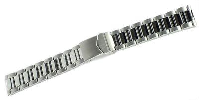Metallband | Uhrenarmband Edelstahl / silberfarben Faltschließe 32313 – Bild 2