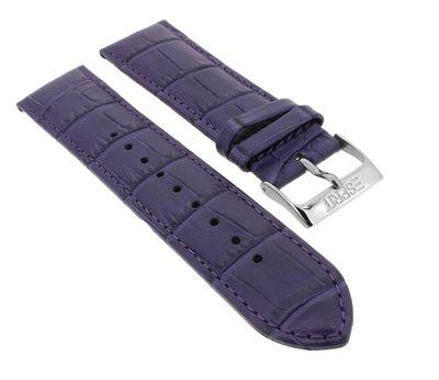 Esprit Uhrenarmband 22mm | Leder lila mit Naht für ES103822003 103822