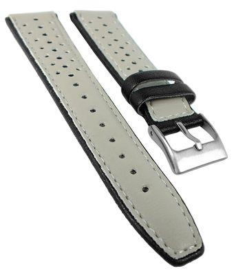 Minott | Kinder Uhrenarmband 18mm beige mit schwarzen Punkten 32384