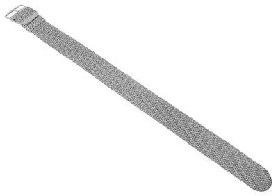 Minott | Perlonband geflochten in silberfarben mit Dornschließe 32469 – Bild 3