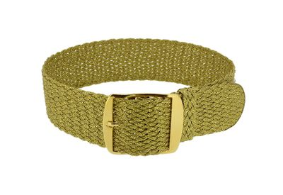 Minott | Durchzugsband goldfarben mit Dornschließe geflochten 32470 – Bild 1