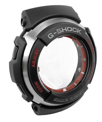 Casio G-Shock | Gehäuse CASE/CENTER ASSY schwarz/silbern für G-300L