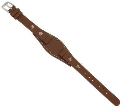 s.Oliver Unterlageband | Uhrenarmband 13mm | Leder braun SO-3004-LQ