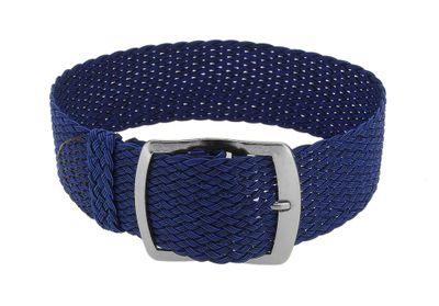 Minott Ersatzband mit Dornschließe | Perlon in blau geflochten 32992 – Bild 1