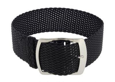 Minott Durchzugsband Textil | Perlon in schwarz geflochten | 33011 – Bild 1