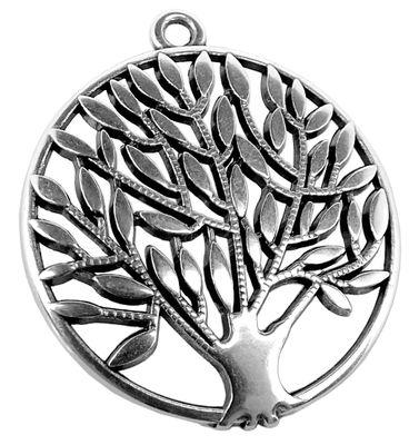 Minott Schmuck Anhänger |  Baum aus Messing, versilbert 33021