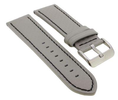 Minott ♦ Easy Click Uhrenarmband in Carbonlook ♦ Leder in grau ♦ 33075