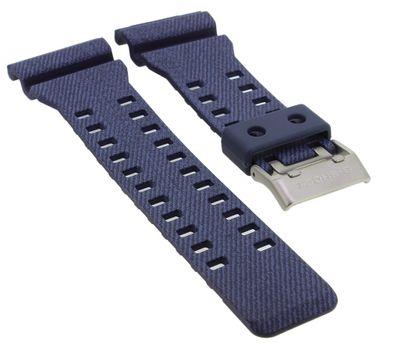 Casio Ersatzband | Uhrarmband Resin blau DENIM'D COLOR G-Shock GA-700 – Bild 1