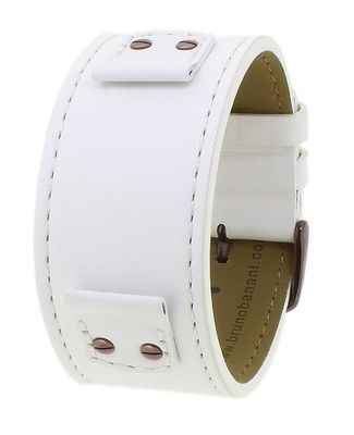Bruno Banani | Uhrenarmband Leder weiß für Rectangular Ladies 33196 – Bild 2